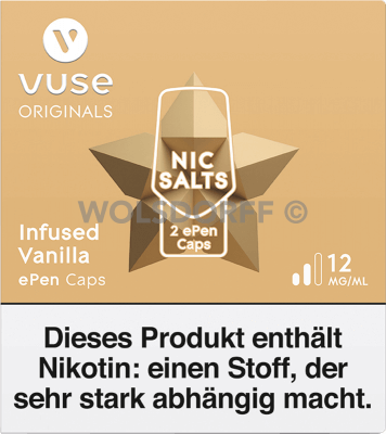 Vuse ePen Caps Nic Salts Infused Vanilla 2er