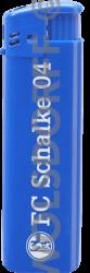 Einwegfeuerzeug Prestige blau FC Schalke 04