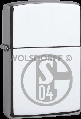 Zippo Chrom poliert FC Schalke 04