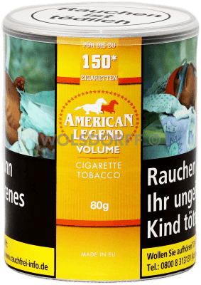 American Legend Volumentabak 80 g