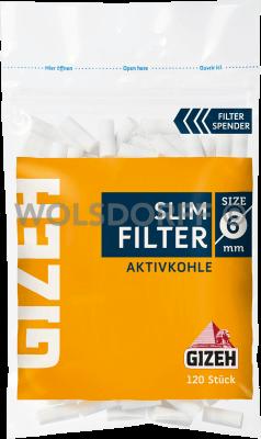Gizeh Slim Aktivkohlefilter 120er