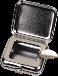Taschenascher eckig chrom poliert 515241