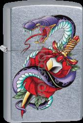 Zippo 60004136 #207 Viper/Dagger/Rose Design