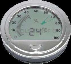 Freeline Hygrometer silber 7.2cm