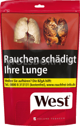 West Red Volume Tobacco Zip Bag 200 g