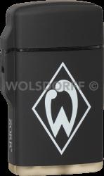 Feuerzeug Rubber Laser schwarz Werder Bremen
