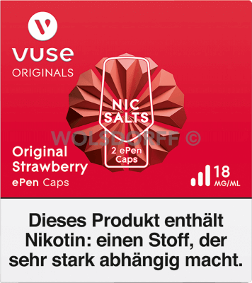 Vuse ePen Caps Nic Salts Original Strawberry 2er