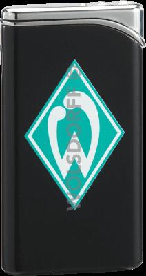 Feuerzeug Tempo schwarz matt Werder Bremen Vereinslogo bedruckt