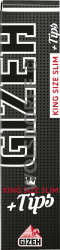 Gizeh Black King Size Slim+Tips (34x34)