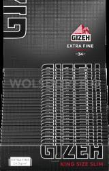 Gizeh Black King Size Slim Blättchen 25 x 34 Blatt