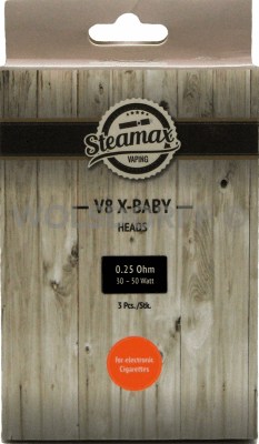 Steamax V8 X-Baby M2 Dual 0,25 Ohm 3er