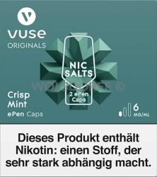 Vuse ePen Caps Nic Salts Crisp Mint 2er