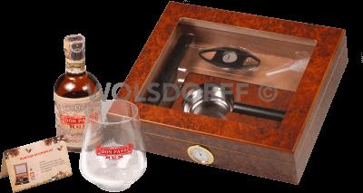 Humidor Geschenkset mit Don Papa Rum