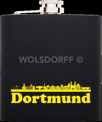 Taschenflasche Rubber schwarz Dortmund