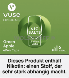 Vuse ePen Caps Nic Salts Green Apple 2er