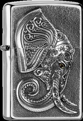 Zippo 2005710 #200 Elephant Head Emblem