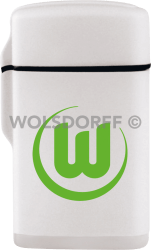 Feuerzeug Rubber Laser weiß VfL Wolfsburg