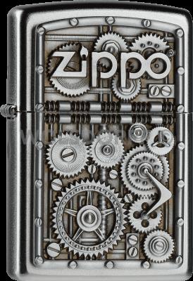 Zippo 2004497 #205 Zippo Logo Gear Wheels Emblem