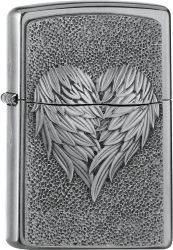 Zippo 2005352 #207 Heart With Feathers